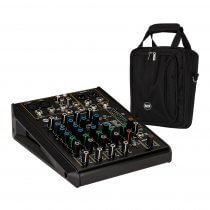 RCF F-6X 6 Channel Mixing Console Recording Karaoke FX Desk + Bag