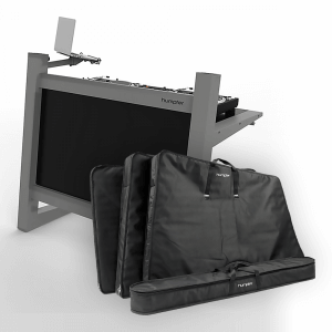 Humpter Console PRO DJ Booth inc. Lower Front Plate, Corner Laptop Stand and Carry Bags