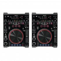 2x Omnitronic DJS-2000 CDJ Player Media CD Console Midi Controller DJ Disco