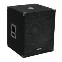 "Omnitronic MagiCarpet-181A 18"" Active Subwoofer Bass Bin Speaker 1000W DJ Disco"