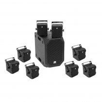 Omnitronic Set BOB-10A Black + 8 x BOB-4 Black PA System Speaker 900W DJ Disco