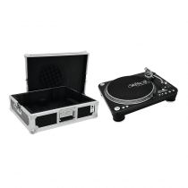 Omnitronic DD-5220L Turntable Black inc Flightcase