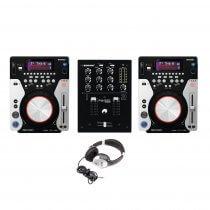 Omnitronic XMT-1400 & PM-222 Package CD Player CDJ USB MP3 DJ Setup