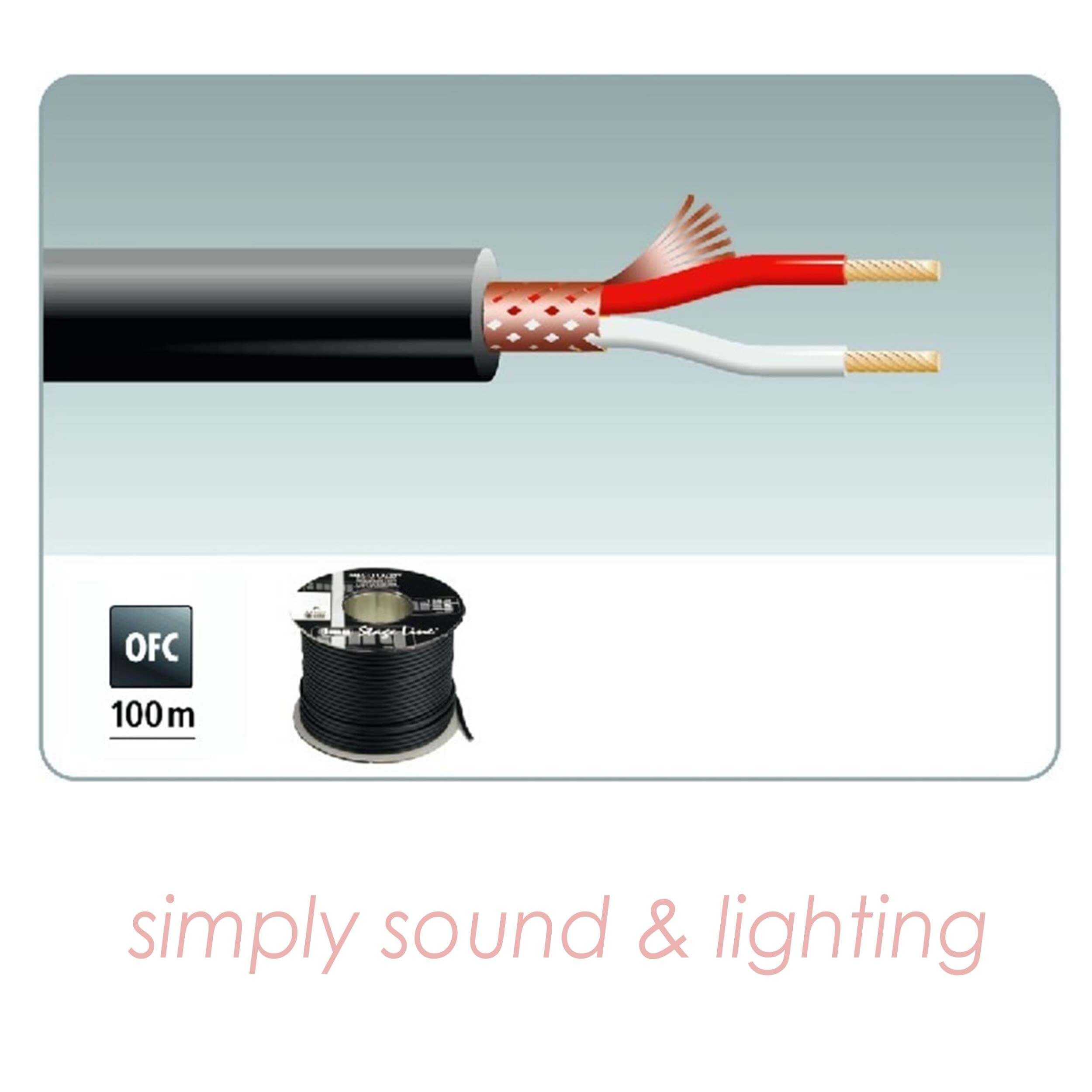 Stageline MLC-112/SW 100m Microphone Cable Black