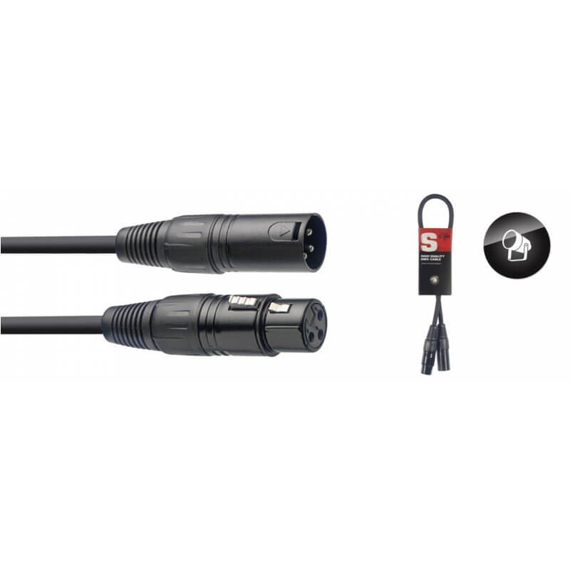 Stagg 0.5m DMX cable