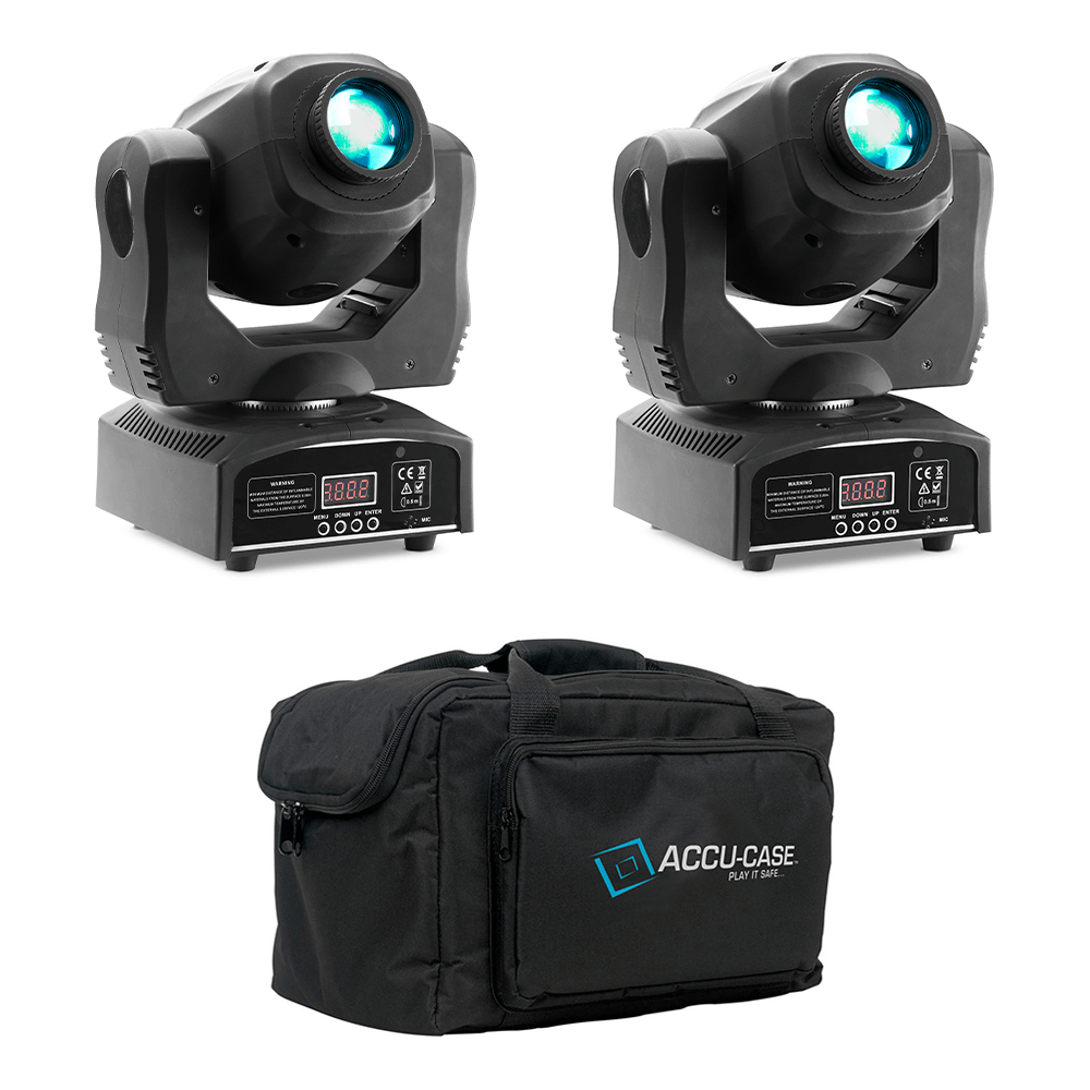 2x Stagg Gobo Moving Head inc Carry Bag