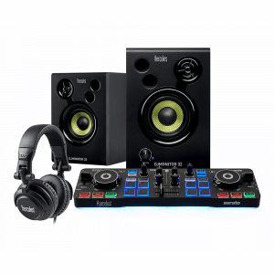 Hercules DJ Starter Kit Controller, Speakers & Headphones inc. Serato Software Disco