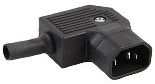 IEC Male Plug 90 Degree Right Angle Heavy Duty with Screw Terminals