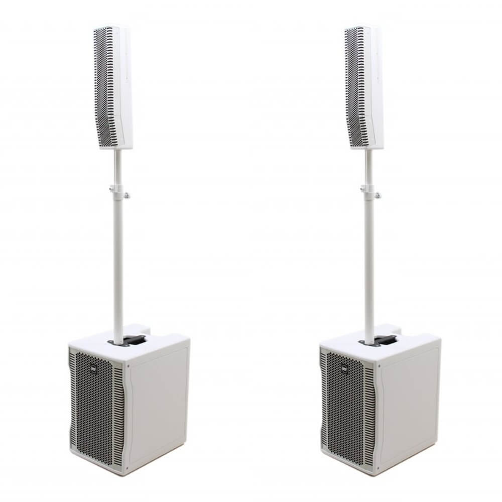 2x RCF EVOX 8 Active Two Way Array (White)