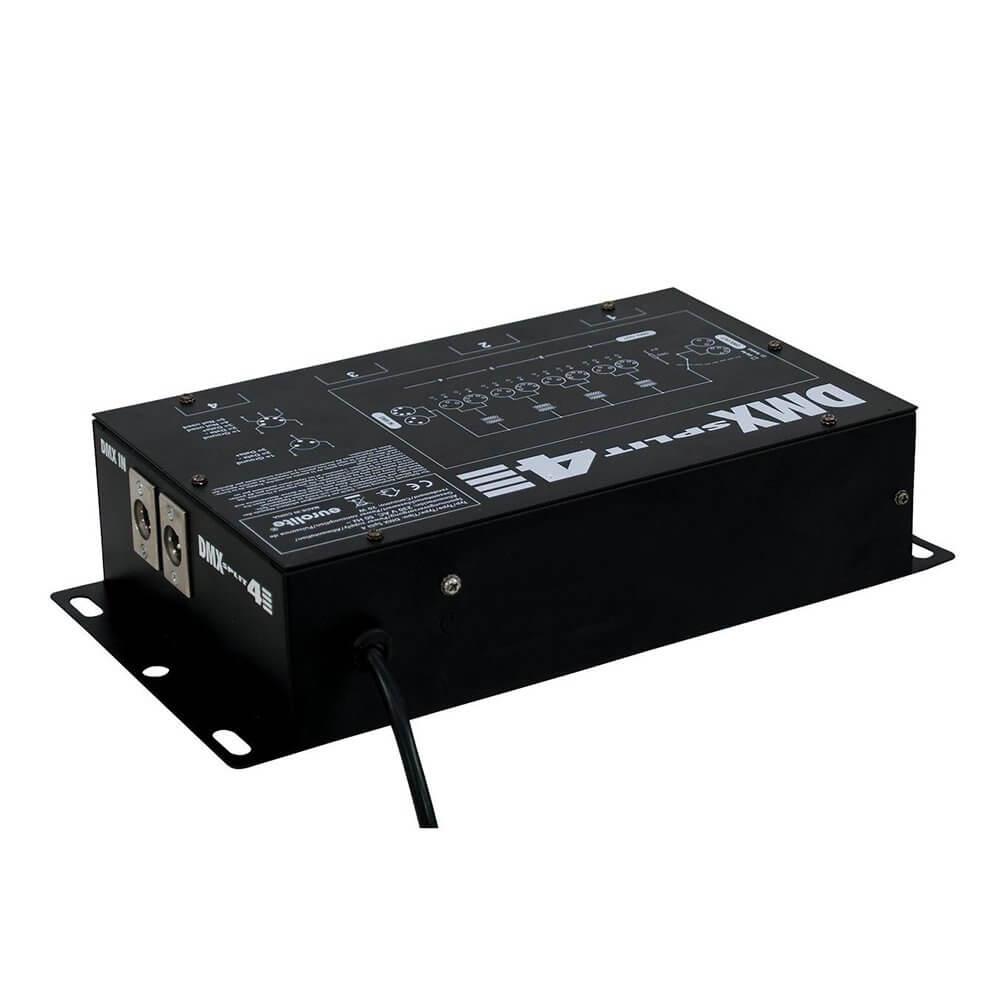 Eurolite DMX Split 4 DMX Splitter 4 Way 3 Pin XLR 5 Pin XLR Stage Lighting  DJ Disco
