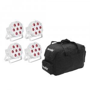 Eurolite Set 5x LED SLS-7 HCL Spot white + Soft Bag