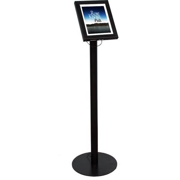 iPad Anti-Theft Secure Exhibition Display Floor Stand Lockable Display Mount