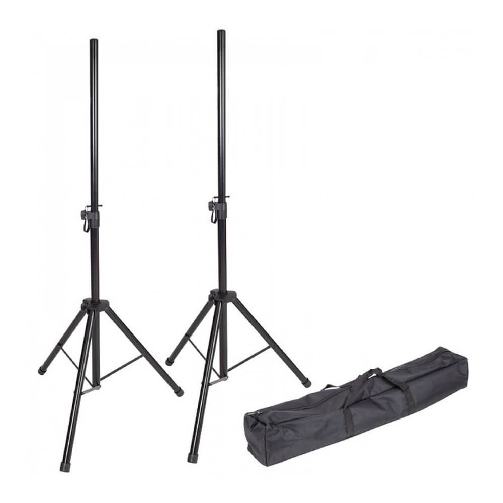 Kinsman KSS08 Pair Standard PA Speaker Stands with Carry Bag 35mm Disco DJ