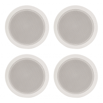 "4x Adastra 5.25"" 100V Ceiling Speakers (White)"