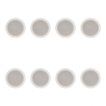 "8x Adastra 5.25"" 100V Ceiling Speakers (White)"