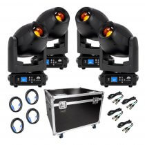 ADJ Focus Spot 4Z 200W LED Moving Head Zoom Package inc Flightcase / Cables DJ Disco