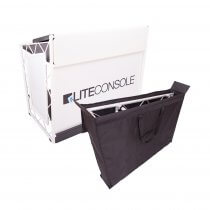 Liteconsole XPRS White V2 Foldable DJ Booth inc Padded Bag Set