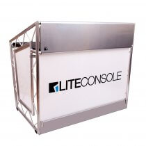 LiteConsole XPRSlite V2 Aluminium Mobile DJ Stand Booth Desk