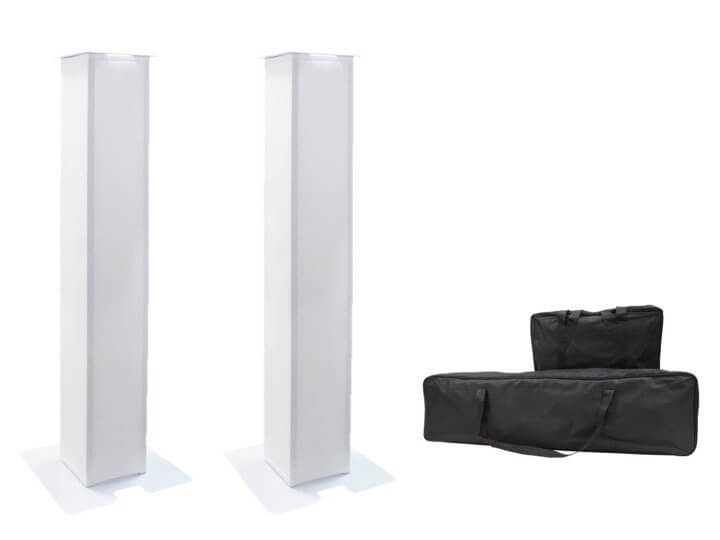 2 x Equinox 1m Moving Head Plinth Podium inc Bags
