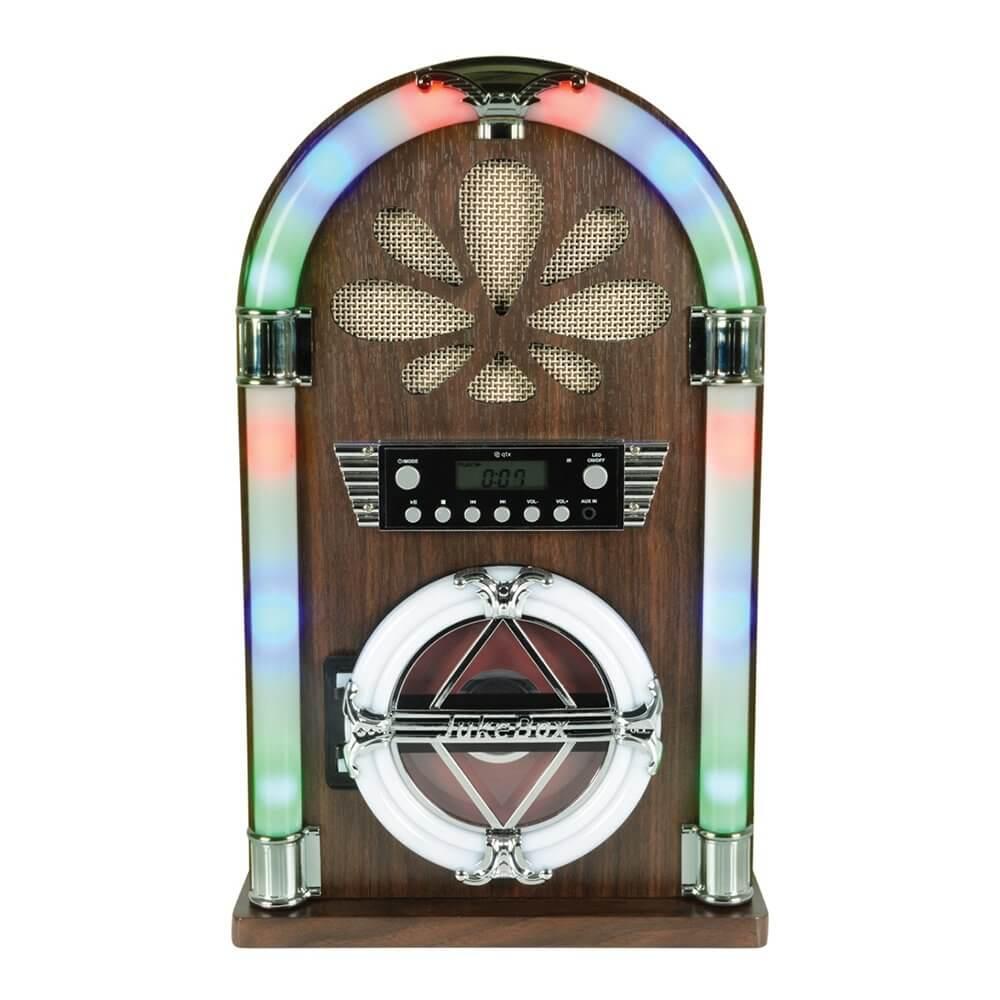 QTX Roadhouse Mini Jukebox with Bluetooth, CD Player and FM Radio