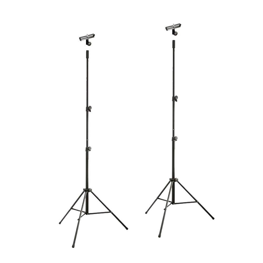 Lighting Stand Package 2 x LS-4 Lighting Stand & Truss Adaptors DJ Disco Gantry Trussing