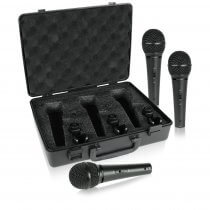 Behringer XM1800S dynamic vocal Microphone (Pack of three)
