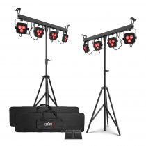 2x Chauvet DJ 4Bar LT BT LED Parbar Lighting System