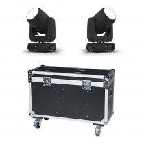 2x Chauvet DJ Intimidator Beam 355 IRC LED Moving Head 100Winc. Flightcase