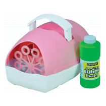 Cheetah Battery Powered Bubble Machine inc. Fluid (Pink)