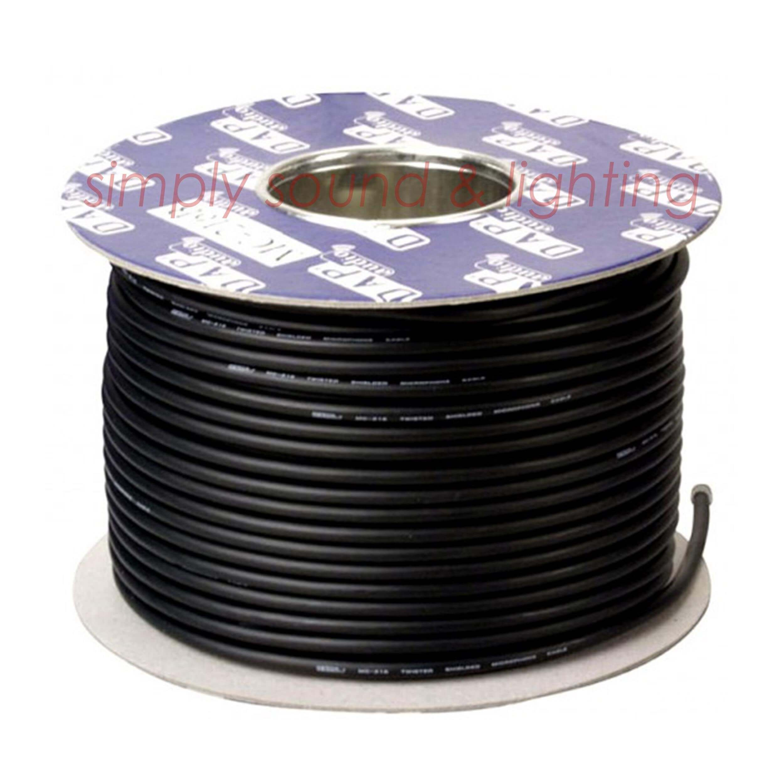 DAP 100m DMX Cable Black 110 Ohm Digital 3 Core