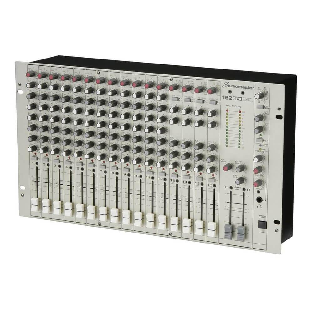 Studiomaster 162BPX Rackmount 16CH 28 Input Audio Mixer Sound PA Studio Karaoke DJ