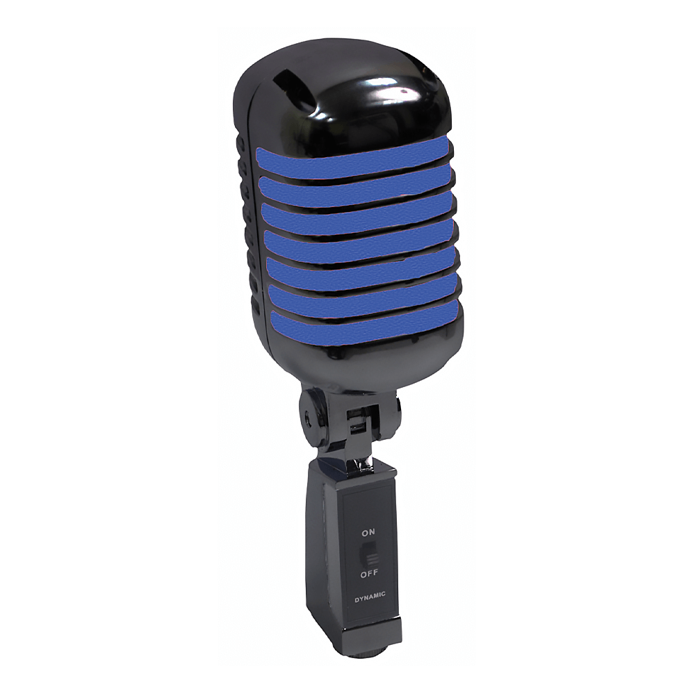 NJS Retro Style Side Address Vocal Microphone (Blue & Black)