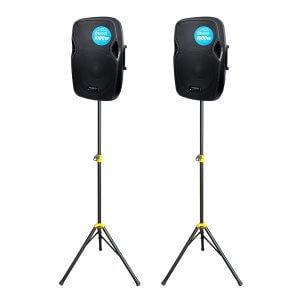2x Kam RZ12A V3 1000W Active PA Speaker Bluetooth DJ Disco Sound System