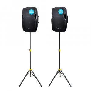 2x Kam RZ15A V3 1200W Active PA Speaker DJ Disco Sound System