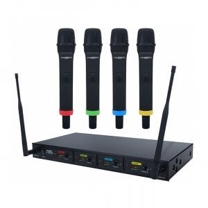 KAM Quartet Quad UHF Wireless Microphone System