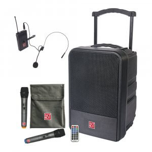 BST IPS10-250 Portable All Weather Outdoor IP54 Sound System PA Wireless Microphone Bundle