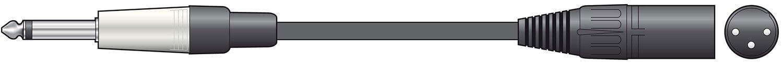 Chord 3m XLR Male to Jack 6.3mm Mono Lead Cable