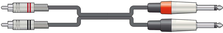 Chord Classic Twin RCA to 2 x 6.3mm Mono Jack Plug Leads