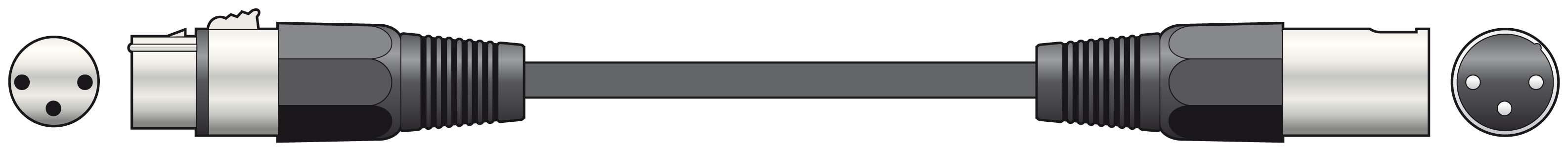 1.5M DMX Cable 110ohm Lead XLR 3p High Quality Durable