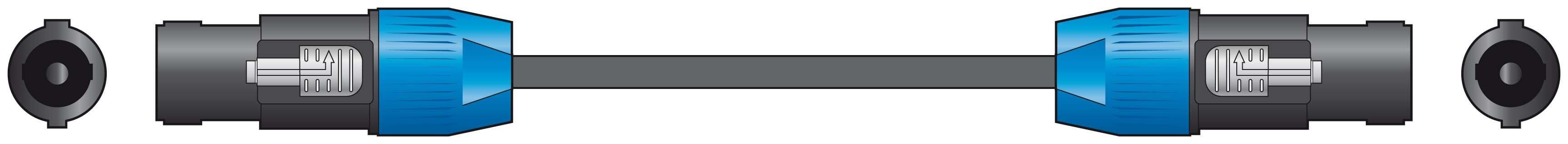 Chord Classic Speaker Speakon Lead Cable 6m