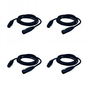 4x DAP Audio 3Pin Male to Female DMX / XLR Cable (6M)
