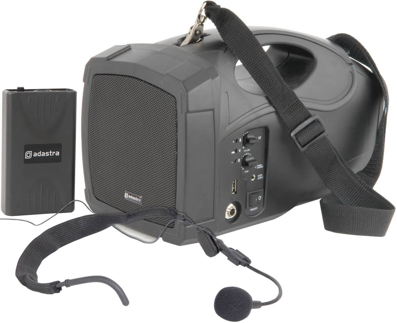 Adastra H25 PA System Headset Battery Dual Handheld Microphone Portable Aerobic