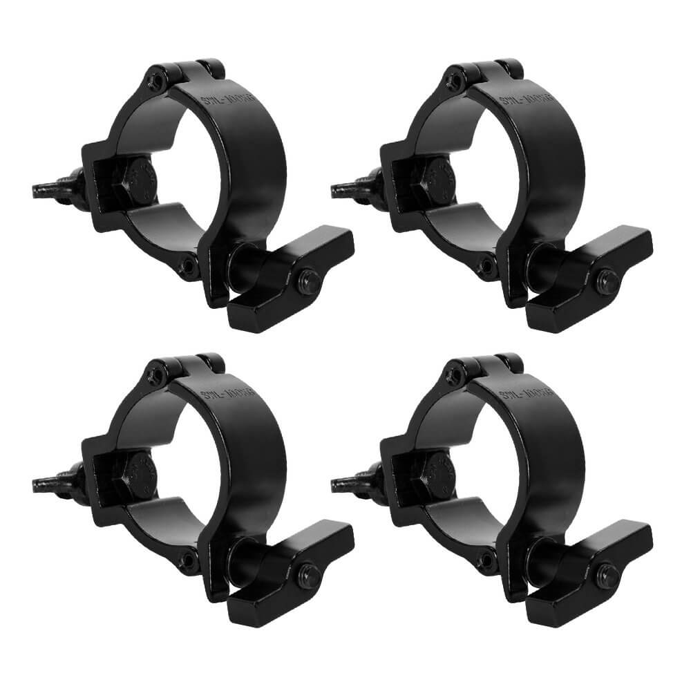 4x Duratruss DT Mini 360 Wing Black Half Coupler Pro 100kg 50mm 2""