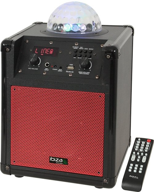 Ibiza PORTABLE STAND-ALONE SPEAKER WITH RGB LED ASTRO LIGHT EFFECT