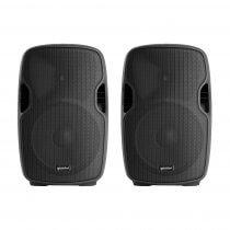 """2x Gemini AS08BLU 8"""" Powered Speakers"""