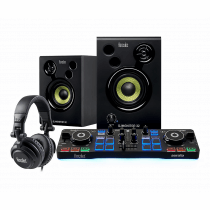 Hercules DJ Starter Kit Controller, Speakers & Headphones inc. Serato Software Disco
