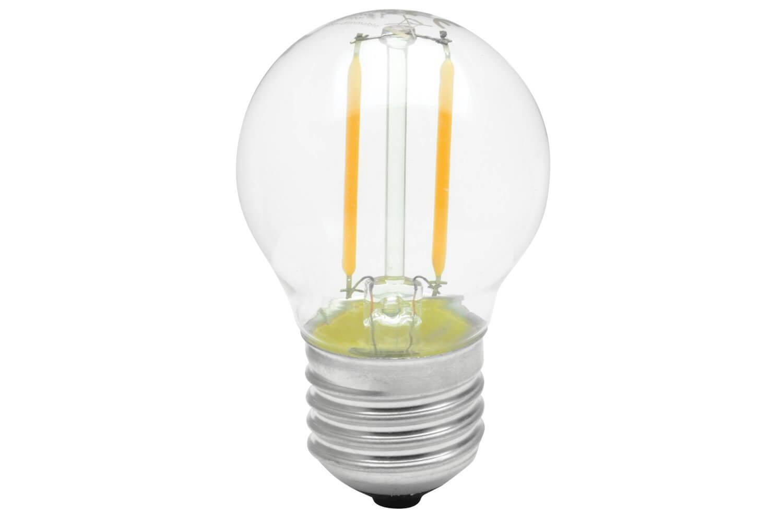 2W Filament Warm White LED Golfball Lamp Bulb Suitable for Festoon E27 Screw